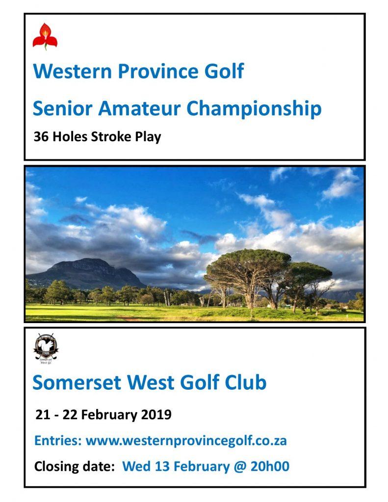 Entries are now open: Senior Amateur