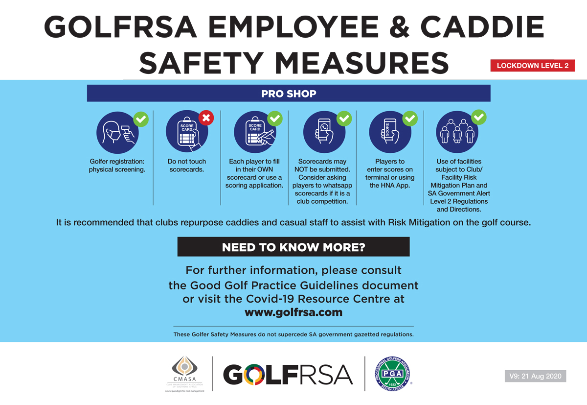 Caddie and Employee Safety Measures English