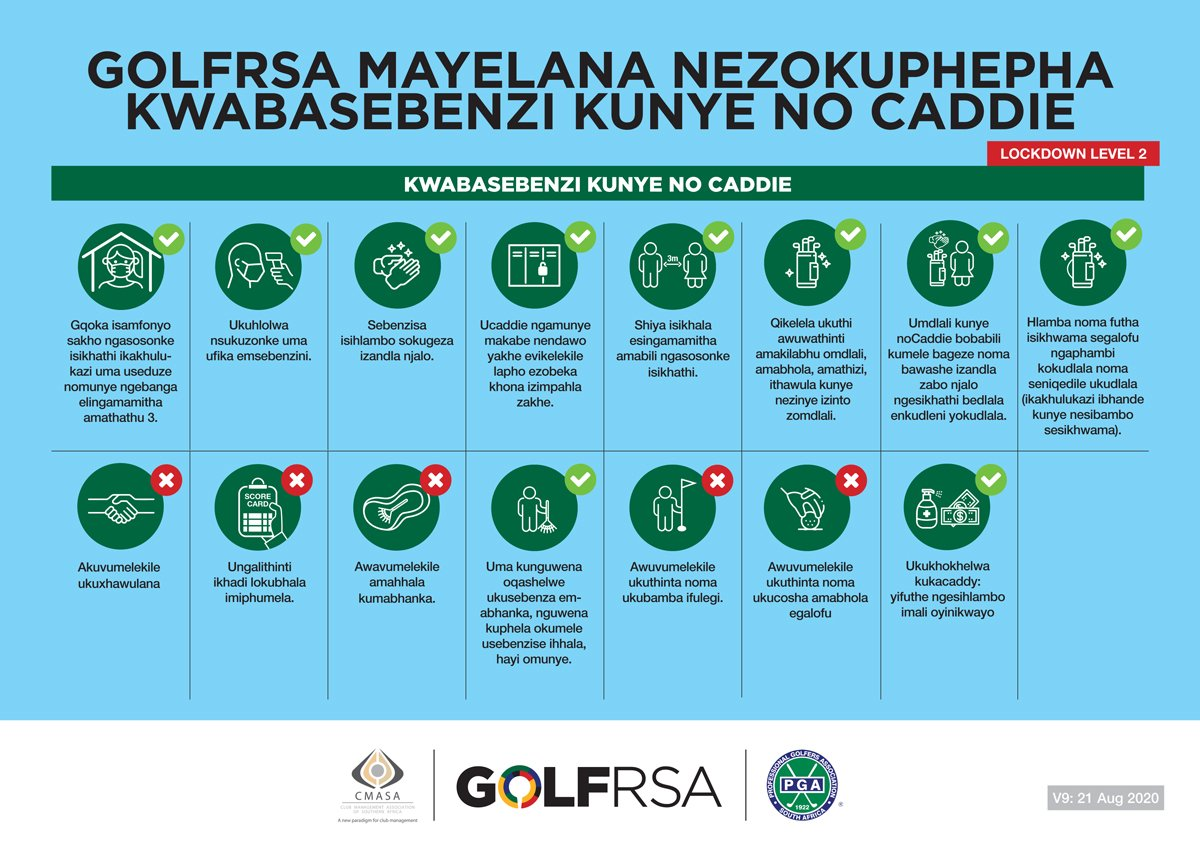Caddie & Employee Safety Measures Zulu
