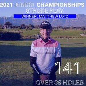 MATTHEW LOTZ - winner stroke play